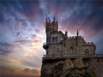 Ласточкино гнездо в Крыму - маленький замок на Аврориной скале