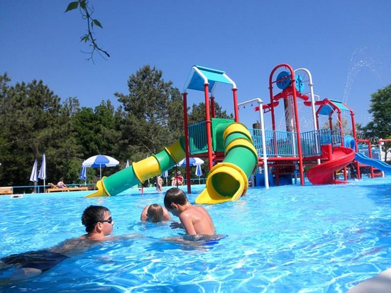 Новый детский аквапарк на территории пансионата